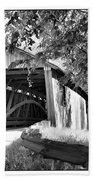 Quinlan Bridge Beach Towel by Deborah Benoit