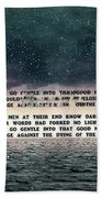 Quotes From Interstellar Beach Towel