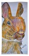 Rabbit Watercolor 15-01 Beach Towel