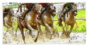 Racetrack Dreams 11 Beach Towel