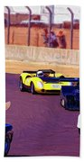 Racing At Laguna Seca Beach Towel