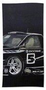 Racing Dodge Pickup Beach Towel