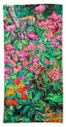 Radford Flower Garden Beach Towel