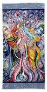 Radha Krishna - Cosmic Dance Beach Towel