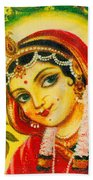 Radha - The Indian Love Goddess Beach Towel