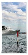 Radiance Of The Seas Passing Opera House Beach Towel