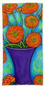 Radiant Ranunculus Beach Towel