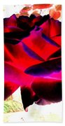 Radiant Red Rose Beach Towel