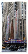 Radio City Music Hall New York City Beach Towel