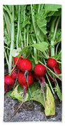 Radish Harvest Beach Towel