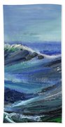 Raging Seas Beach Towel