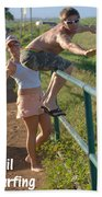 Rail Surfing Beach Towel