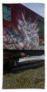 Railcar Graffiti Beach Towel