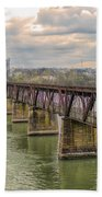 Railroad Bridge3 Beach Towel