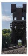 Railroad Lift Bridge 2 C Beach Towel