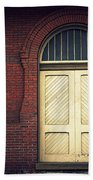 Railroad Museum Door Beach Towel