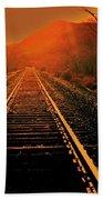 Railroad  Surreal Perspective IIi Beach Towel