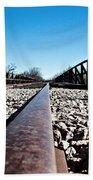 Railroad Trestle  Beach Towel