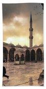 Rain At The Blue Mosque Beach Sheet