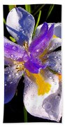Rain Flower Morning Beach Towel