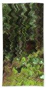Rain Forest Abstract Beach Towel