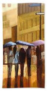 Rain In Manhattan Number Seventeen Beach Towel