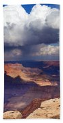 Rain Over The Grand Canyon Beach Towel