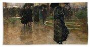 Rain Storm Union Square Beach Sheet