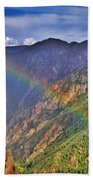 Rainbow Across Canyon Beach Towel
