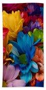 Rainbow Bouquet Beach Towel