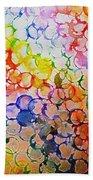Rainbow Bubbles Beach Towel