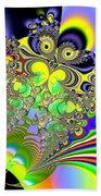 Rainbow Butterfly Bouquet Fractal Abstract Beach Towel