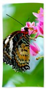 Rainbow Butterfly Beach Towel