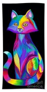 Rainbow Cat Beach Towel