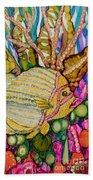 Rainbow-colored Sunfish Beach Towel