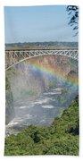 Rainbow Crossing Gorge Beneath Victoria Falls Bridge Beach Towel