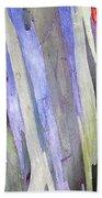 Rainbow Eucalyptus Tree Beach Towel
