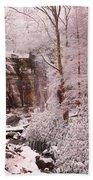 Rainbow Falls Smoky Mountain National Park -- Painted Photo. Beach Towel by Christopher Gaston
