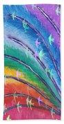 Rainbow Feathers Beach Towel
