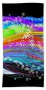 Rainbow Flower Girl Beach Towel