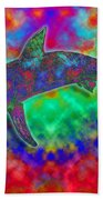 Rainbow Hammerhead Shark Beach Towel
