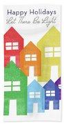 Rainbow Holiday- Art By Linda Woods Beach Sheet
