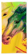 Rainbow Horses And The Pearl Of Light Beach Towel