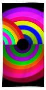 Rainbow In 3d Beach Towel