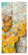 Rainbow Leaves Aqua Beach Towel