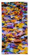 Rainbow Leaves Beach Towel