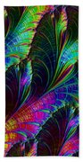 Rainbow Leaves Beach Towel