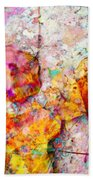 Rainbow Abstract Leaves Beach Towel