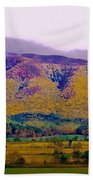 Rainbow Mountain Beach Towel by DigiArt Diaries by Vicky B Fuller