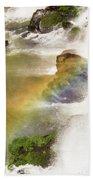 Rainbow On The Falls Beach Towel